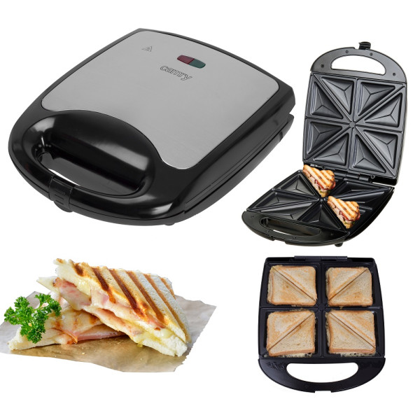 Camry XXL 4er Sandwichmaker Antihaftbeschichtung 1500 Watt