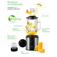 Camry Profimixer 1,3 Liter Glaskrug BPA Frei 1500 Watt