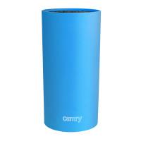 Camry Messerblock rund mit flexiblem Borsteneinsatz Höhe 22,5cm Blau