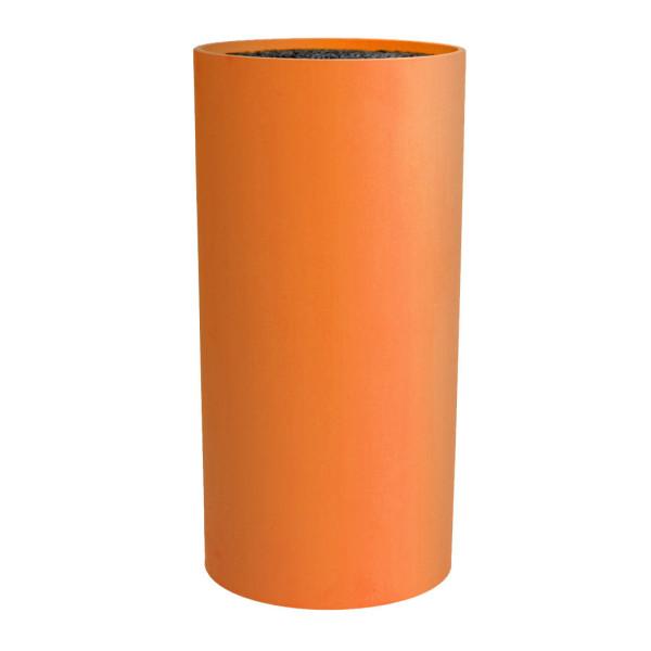 Camry Messerblock rund mit flexiblem Borsteneinsatz Höhe 22,5cm Orange