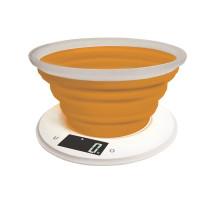 Adler digitale Küchenwaage mit Schüssel bis 5 KG LCD-Display Orange
