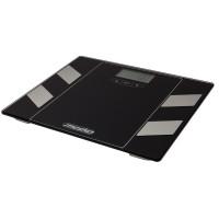 Mesko Digitale Körperfettwaage Sicherheitsglas  LCD-Display Schwarz