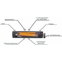 Zilan Karbon Heizstrahler mit Fernbedienung Timer 2000 Watt