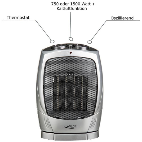 Adler AD-7703 fan heater