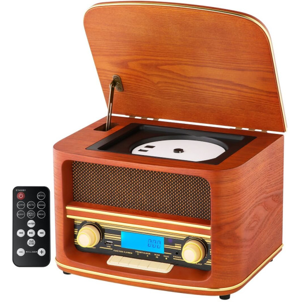 Camry Nostalgie Holz Radio Retro Musikanlage CD MP3 USB...