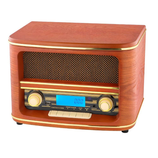 Camry Nostalgie Holz Radio Retro Musikanlage CD MP3 USB Player