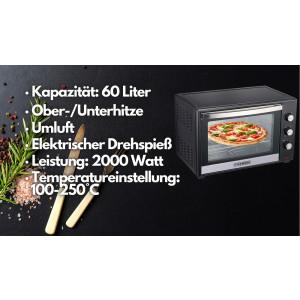 Steinborg SB-3006 Backofen 60 Liter Schwarz / Onlineshop