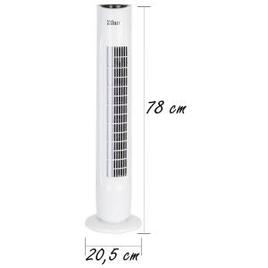 Zilan Turmventilator mit Fernbedienung 3 Stufen 2 Modi Timer Oszillierend 45 Watt