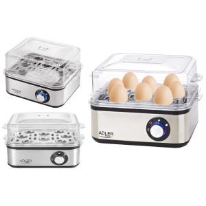 Adler Elektrischer Eierkocher 1-8 Eier 500 Watt