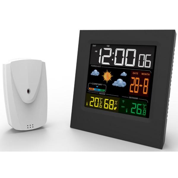 Camry Funkwetterstation Wetterstation Digitales Thermometer Wecker Hygrometer