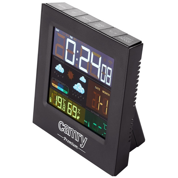 Camry Funkwetterstation Wetterstation Digitales Thermometer Wecker Hygrometer