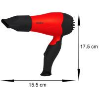Zilan Haartrockner 2 Geschwindigkeitsstufen 1.000 Watt Rot