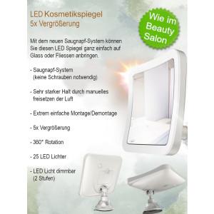 Camry LED Kosmetikspiegel 5x Vergrößerung...
