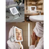 Camry LED Kosmetikspiegel 5x Vergrößerung 360° Rotation Dimmbares LED Licht