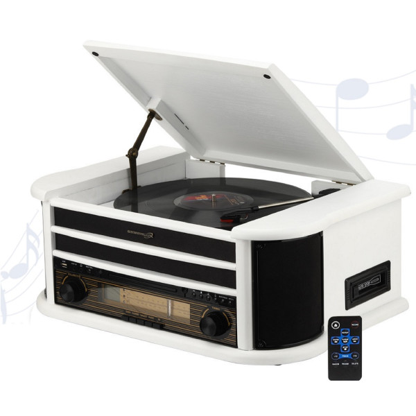 Nostalgia record player white