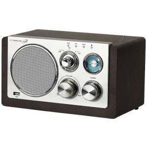 Cyberlux Retro Radio Holz USB FM/AM