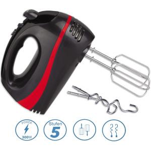Zilan Handmixer mit 2 Aufsätzen schwarz/rot 300 Watt