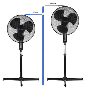 Zilan Standventilator Ø 41 cm Rotation (zuschaltbar) oder fixierbar 40 Watt