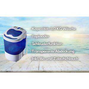 Steinborg Mini-Waschmaschine 3 KG mit Schleuderfunktion