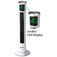 Ecosa Turmventilator mit Fernbedienung Timer oszillierend 40 Watt