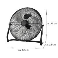 Echos Bodenventilator Ø 46cm 3 Geschwindigkeitsstufen 100 Watt