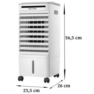 Echos 3in1 Aircooler Timer oszillierend 3 Modi 350 Watt