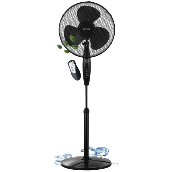 Echos Standventilator Ø 41 cm Timer oszillierend 3 Modi LED Display 55 Watt