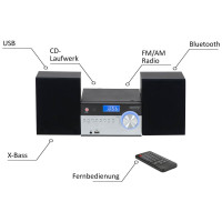 Camry Stereoanlage USB Fernbedienung CD/MP3 Bluetooth