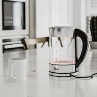 Zilan Glas Wasserkocher mit Temperaturwahl und LED-Beleuchtung 1,7 L 1850-2200 Watt