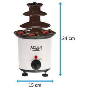 Adler Schokoladenbrunnen Schokofondue Kapazität 200 ml