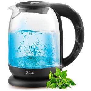 Zilan Wasserkocher mit Temperatureinstellung schwarz 1,7...