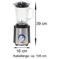 Mesko Glas Standmixer 1,5 L 1200 Watt