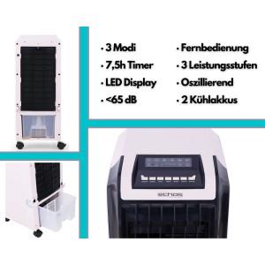 Echos Aircooler 6,5 L mit Fernbedienung Anionenfunktion...