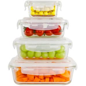 Ecosa 4-Teiliges Frischhaltedosenset Aufbewahrungsboxen...