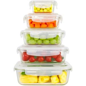 Ecosa 5-Teiliges Frischhaltedosenset Aufbewahrungsboxen...