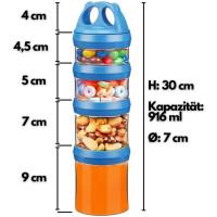 Ecosa Pandadosen Variable Vorratsdosen Frischhaltedosen BPA Frei 916 ml blau und lila