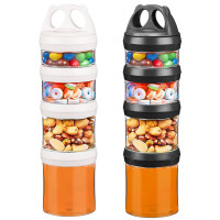 Ecosa Pandadosen Variable Vorratsdosen Frischhaltedosen BPA Frei 916 ml schwarz und weiß