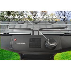 Steinborg 2in1 elektrischer Standgrill 2000 Watt