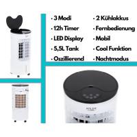Echos Aircooler 5,5 L Wassertank 3 Modi mit Fernbedienung